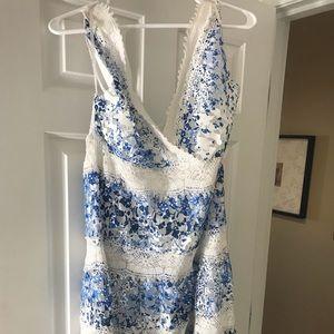 Brand New Blue and White Lace Raya Dress
